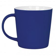 """Кружка """"Bali"""" с прорезиненным покрытием, синий, 400 мл, фарфор"""