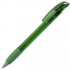 NOVE LX, ручка шариковая с грипом, прозрачный зеленый/хром, пластик