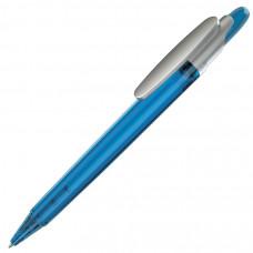 OTTO FROST SAT, ручка шариковая, фростированный голубой/серебристый клип, пластик