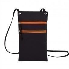 """Сумка для дорожных  документов """"ACTIVE"""" с длинным ремешком,  оранжевый, 17х30см, полиэстер,  шелк."""