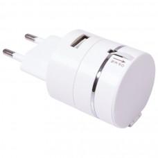 "Кабель ""Plug"" 3 в 1 для зарядки от сети, 4х3,9х8см, длина шнура 65 см, пластик"