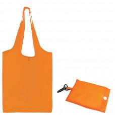 "Сумка для покупок ""Shopping""; оранжевый; 41х38х0,2 см (в сложенном виде 8,5х12х1см); Полиэс; шелкогр"