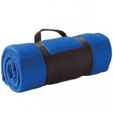 """Плед """"Color""""; синий; 130х150 см; флис 220 гр/м2; шелкография, вышивка"""