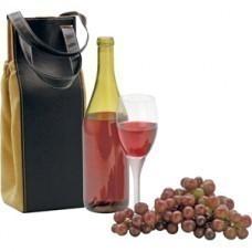 Кейс для бутылки вина; 11х11х31 см; искуccтвенная кожа; шильд
