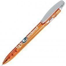 X-3 LX, ручка шариковая, прозрачный оранжевый/серый, пластик