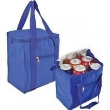 Сумка-холодильник, 5,7 л; синий; 20,7х11,8х23,5 см (5,7 л); полиэстер; шелкография