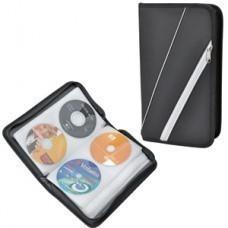 """CD-холдер на 96 дисков """"СИСАДМИН"""" ; черный с белым; 28,5х16х6,2 см; полиэстер; шелкография"""