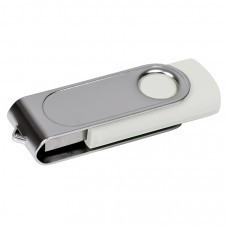 "USB flash-карта ""Dropex"" (8Гб), белый, 5,5х2х1см,пластик, металл"