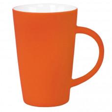 """Кружка """"Tioman"""" с прорезиненным покрытием, оранжевый, 320 мл, фарфор"""