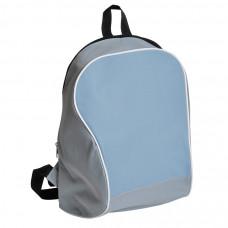 "Промо-рюкзак ""Fun""; серый с голубым; 30х38х14 см; полиэстер; шелкография"