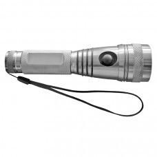 Фонарь с криптоновой лампой, 3 режима подсветки; серебристый; D=3,9 см; H=14,3 см; металл;