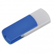 "USB flash-карта ""Easy"" (8Гб),белая с синим, 5,7х1,9х1см,пластик"