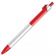 PIANO, ручка шариковая, серебристый/красный, металл/пластик