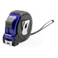 Рулетка пластиковая, 5 м.,синяя, 7*7*3,5 см, с металлическим клипом