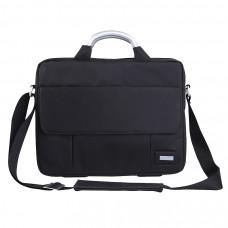 """Конференц-сумка """"BUSINESS TRIP"""" c шильдом; черный; 36х28х5 см; микрофибра"""