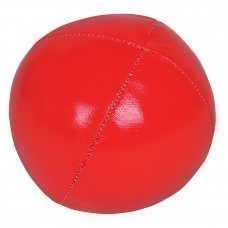 Мяч-антистресс, красный, D=6,5см, искусственная кожа
