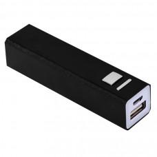 """Универсальное зарядное устройство """"Thazer"""" (2200mAh), черный, 9,4х2,2х2,2 см,металл"""