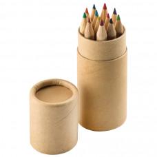 """Набор цветных карандашей (12шт) """"Игра цвета"""" в футляре, 3,5х10,3 см,дерево, картон"""