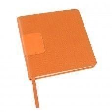 Ежедневник недатированный Scotty, А5-,  оранжевый, кремовый блок, без обреза