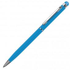 TOUCHWRITER, ручка шариковая со стилусом для сенсорных экранов, голубой/хром, металл