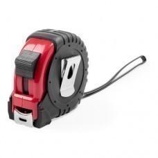 Рулетка пластиковая, 5 м.,красная, 7*7*3,5 см, с металлическим клипом