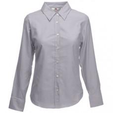 """Рубашка """"Lady-Fit Long Sleeve Oxford Shirt"""", светло-серый_L, 70% х/б, 30% п/э, 135 г/м2"""