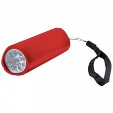 Фонарь треугольный (9 LED); красный; 9,7х3 см; металл; лазерная гравировка