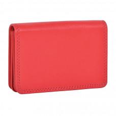 """Футляр для визиток  """"Триест"""",  9.5*7 см,  красный, кожа, подарочная упаковка"""