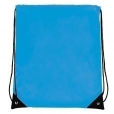 "Рюкзак ""Promo""; голубой; 33х38,5х1см; полиэстер; шелкография"