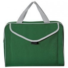 "Конференц-сумка ""Mail""; зеленый; 35х30x8 см; полиэстер; шелкография"