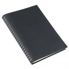 Ежедневник недатированный Foggy, А5,  черный, кремовый блок, без обреза