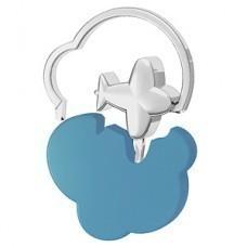 """Брелок """"Самолетик""""; голубой, 4,5х4,7х0,5 см; металл; лазерная гравировка"""