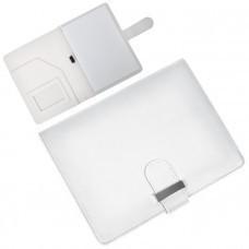 """Папка А5 с блокнотом """"Classic"""",белая,17,5х23х1,7см, искусственная кожа"""
