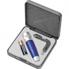 Набор: фонарь, ланъярд, батарейка; 9,5х9,3х2,3 см; пластик, металл; тампопечать, лазерная гравировка
