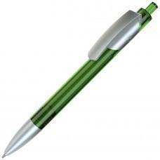 TRIS LX SAT, ручка шариковая, прозрачный зеленый/серебристый, пластик