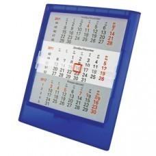 Календарь настольный на 2 года; прозрачно-синий; 12,5х16 см; пластик; тампопечать, шелкография