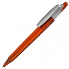 OTTO FROST SAT, ручка шариковая, фростированный оранжевый/серебристый клип, пластик