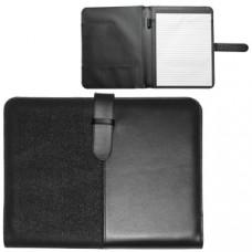 """Папка А4 """"Контракт""""  с блоком для записей; черный; 31,7х26х2,5 см; искуccтвенная кожа; шелкография"""