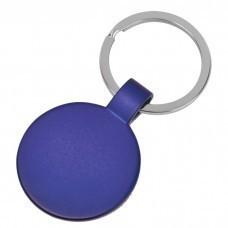 """Брелок """"Круг"""",синий,3,7х3,7х0,1см,металл"""