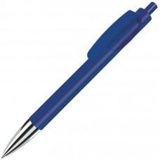 TRIS CHROME, ручка шариковая, синий/хром, пластик