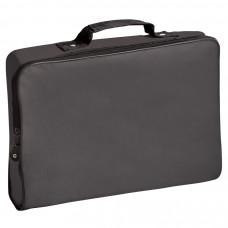 "Конференц-сумка ""Folder""; черная; 39,5х30х5 см; полиэстер; шелкография"