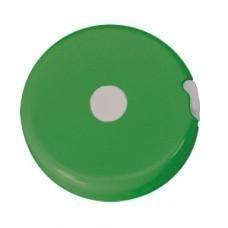 """Рулетка """"Кнопка"""" (1,5 м); светло-зеленый; D=5 см; H=1,2 см; пластик; тампопечать"""