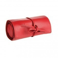 "Футляр для украшений  ""Милан"",  красный, 16х5х7 см,  кожа, подарочная упаковка"