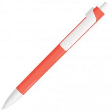 FORTE NEON, ручка шариковая, неоновый красный/белый, пластик
