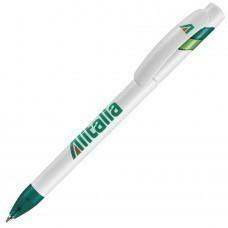MANDI, ручка шариковая, зеленый/белый, пластик