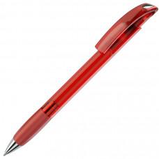 NOVE LX, ручка шариковая с грипом, прозрачный красный/хром, пластик