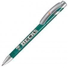 MANDI SAT, ручка шариковая, зеленый/серебристый, пластик
