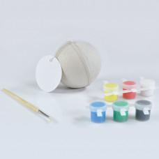 """Набор для раскраски """"ШАР"""", шар, кисть, краски,  D7 см,  папье-маше"""