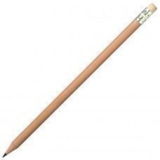 Карандаш простой с ластиком,коричневый, 18,6х0,7см,дерево