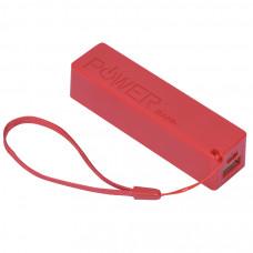 "Универсальное зарядное устройство ""Keox"" (2000mAh), красный, 9,7х2,6х2,3 см,пластик"